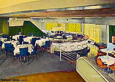 Painting - Whirlpool Srestaurant And Bar In Niagara Falls N Y 1940 by Dwight Goss