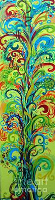 Eco-art Painting - Whirlygig Tree by Genevieve Esson