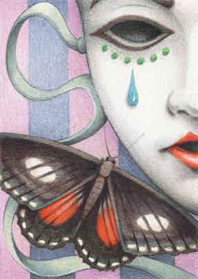 Artist Trading Cards Drawing - Whisper Of Omens by Amy S Turner