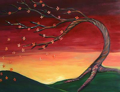 Whispering Autumn Tree Art Print by Astrid Padilla