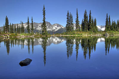 Blackcomb Photograph - Whistler's Harmony Lake  by Pierre Leclerc Photography