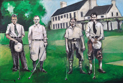 Whistling Straits Painting - Whistling Straits Boys by Tim Nyberg