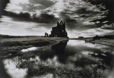 Sombre Photograph - Whitby Abbey by Simon Marsden