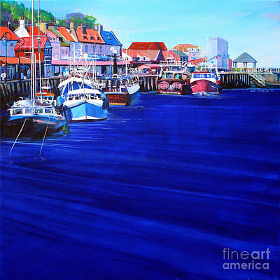Whitby Painting - Whitby Fishing Boats by Neil McBride