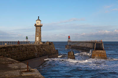 Whitby Lighthouse Art Print by Gary Finnigan