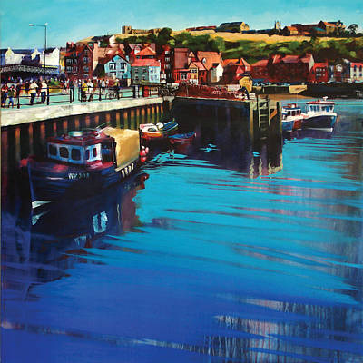 Whitby New Quay Art Print by Neil McBride