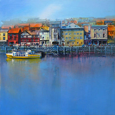 British Painting - Whitby St Anne's Staith by Neil McBride