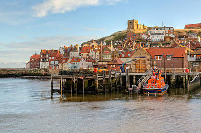 Whitby Town Art Print by Gary Finnigan
