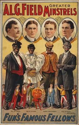 White Actors Faces Appear Art Print by Everett