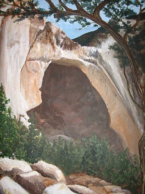 Painting - White Arch by Barbara Prestridge