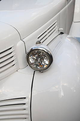 Photograph - White Auto Detail by Nick Jene