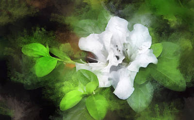 Digital Art - White Azalea by Francesa Miller