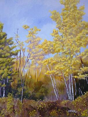 Painting - White Bark Yellow Leaves by Robert Decker