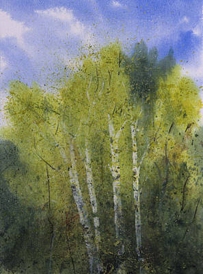 White Birch Trees Art Print by Debbie Homewood