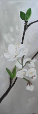 White Blossoms Painting - White Blossoms by Maureen Hargrove