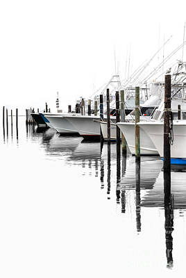 Oregon Inlet Photograph - White Boats I by Dan Carmichael