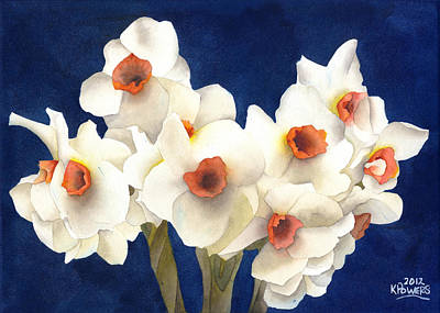 Painting - White Bouquet by Ken Powers