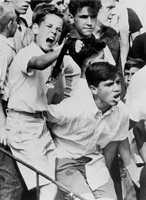 Discrimination Photograph - White Boys Protest Housing Integration by Everett