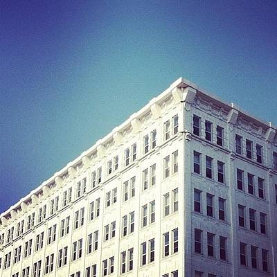 Angle Photograph - #white #brick #building #downtown by Jenna Luehrsen