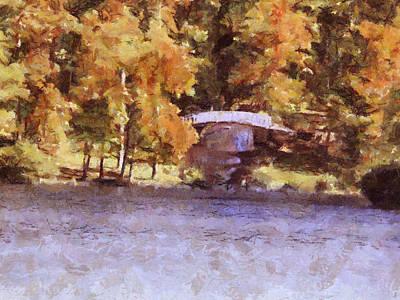 Painting - White Bridge At Chickasaw by Jai Johnson