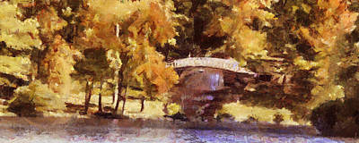 Painting - White Bridge At Chickasaw Long Version by Jai Johnson