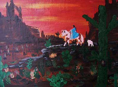 White Buffalo Calf Woman Art Print