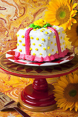 White Cake Art Print by Garry Gay