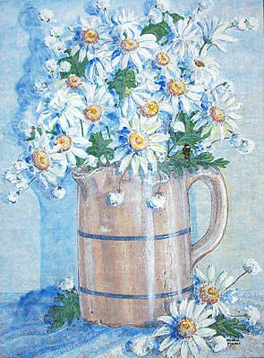 Painting - White Daisies by Phyllis Mae Richardson Fisher