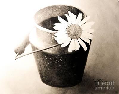 White Daisy Art Print by Muna Abdurrahman