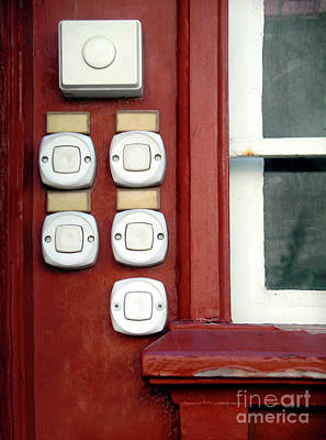 White Doorbells Print by Carlos Caetano