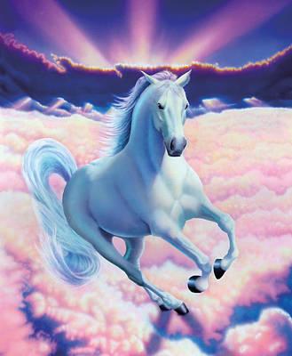 Dreamlike Wall Art - Photograph - White Dream Horse by MGL Studio - Chris Hiett
