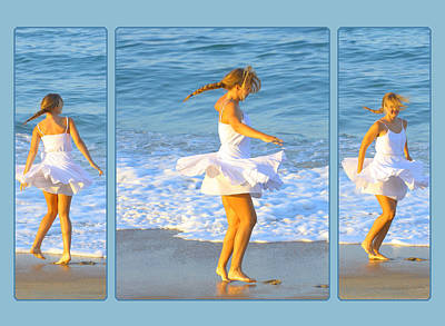 Dancing On The Beach Photograph - White Dress On Beach by Randy Steele