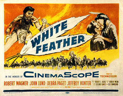 1955 Movies Photograph - White Feather, Jeffrey Hunter, Robert by Everett