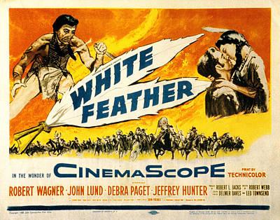 White Feather, Jeffrey Hunter, Robert Art Print by Everett