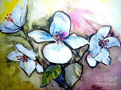 White Floral Group Art Print by Ken Huber