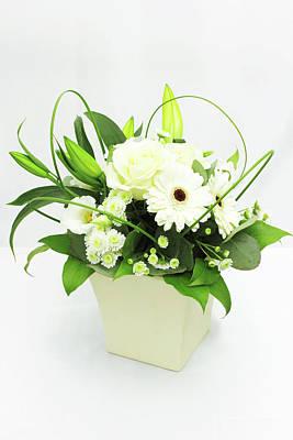 White Flower Bouquet Art Print by © S.Musgrove