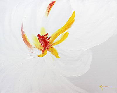 Art Print featuring the painting White Flower by Kume Bryant