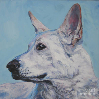 Painting - White German Shepherd by Lee Ann Shepard