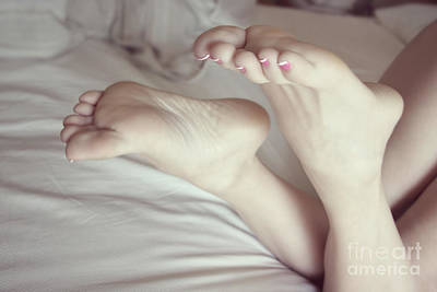 White Girl Feet Art Print by Tos Photos