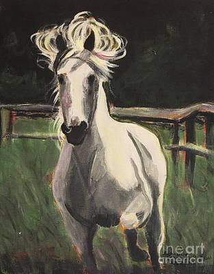 Painting - White Horse by Suzanne  Marie Leclair