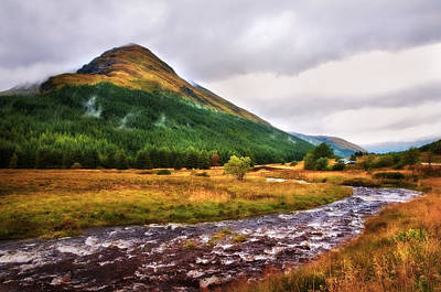 Photograph - White Horses. Rest And Be Thankful. River Kinglas. Scotland by Jenny Rainbow