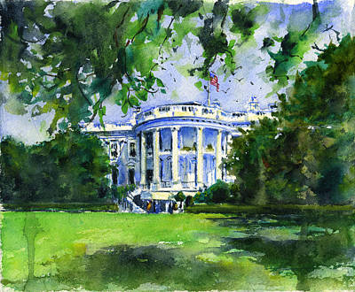 Painting - White House by John D Benson