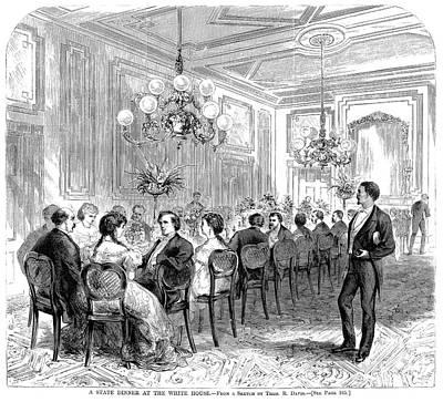 White House: State Dinner Art Print by Granger