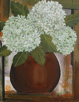 Painting - White Hydrangeas by Kathy Sheeran
