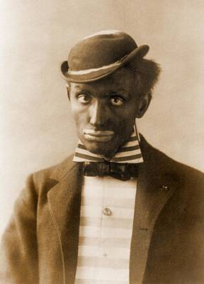 White Man In Blackface As Minstrel Art Print by Everett