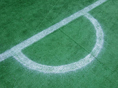 Photograph - White Markings On Soccer Field by Matthias Hauser