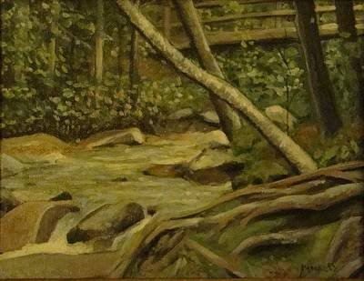 Painting - White Mountain Stream by Mark Haley