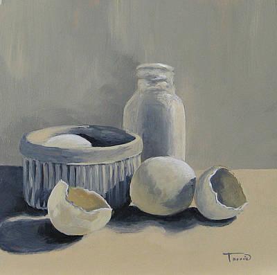 White On White Art Print by Torrie Smiley