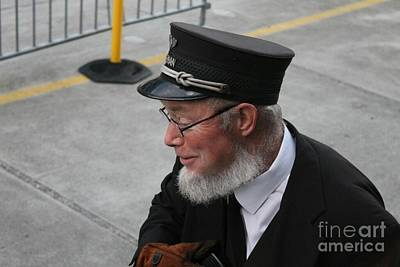 Photograph - White Pass Train Conducter by Pamela Walrath