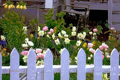 Digital Art - White Picket Fence by Dale   Ford